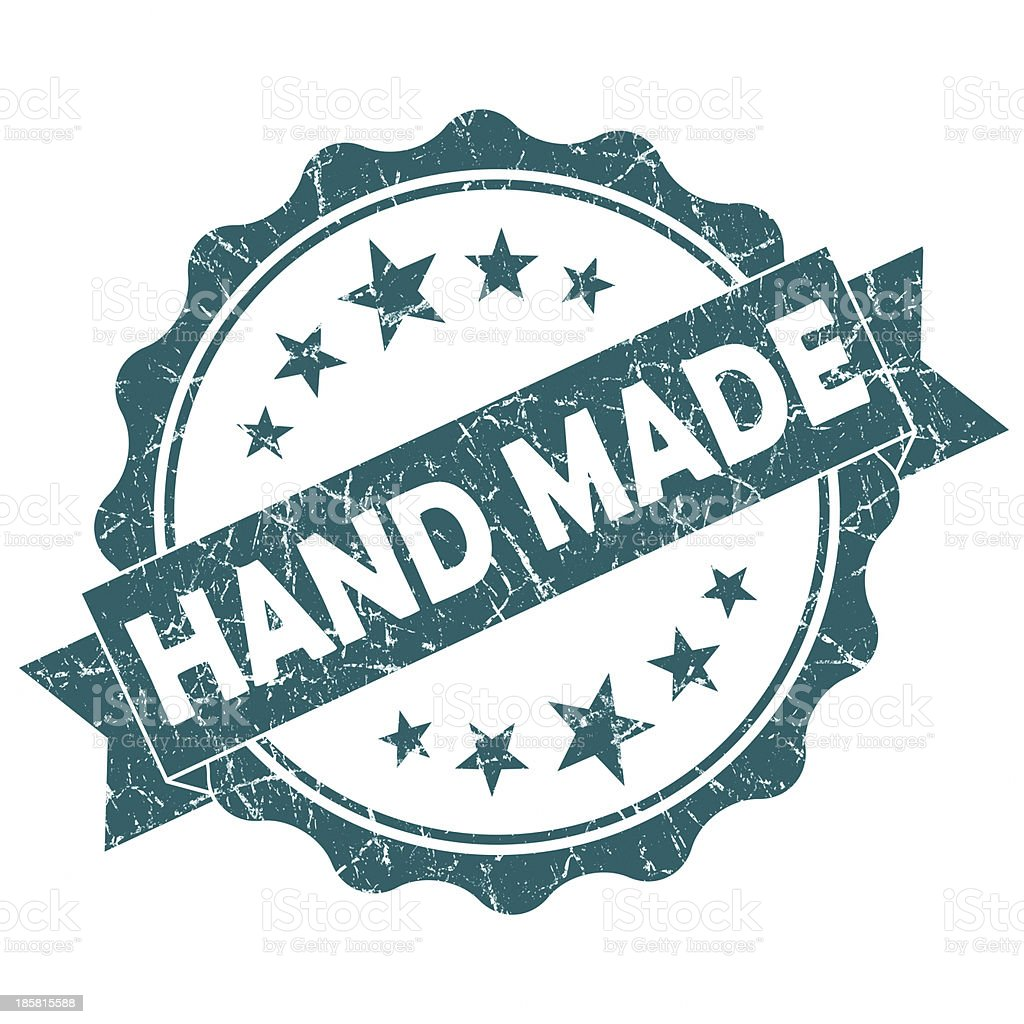 hand made round seal royalty-free stock photo