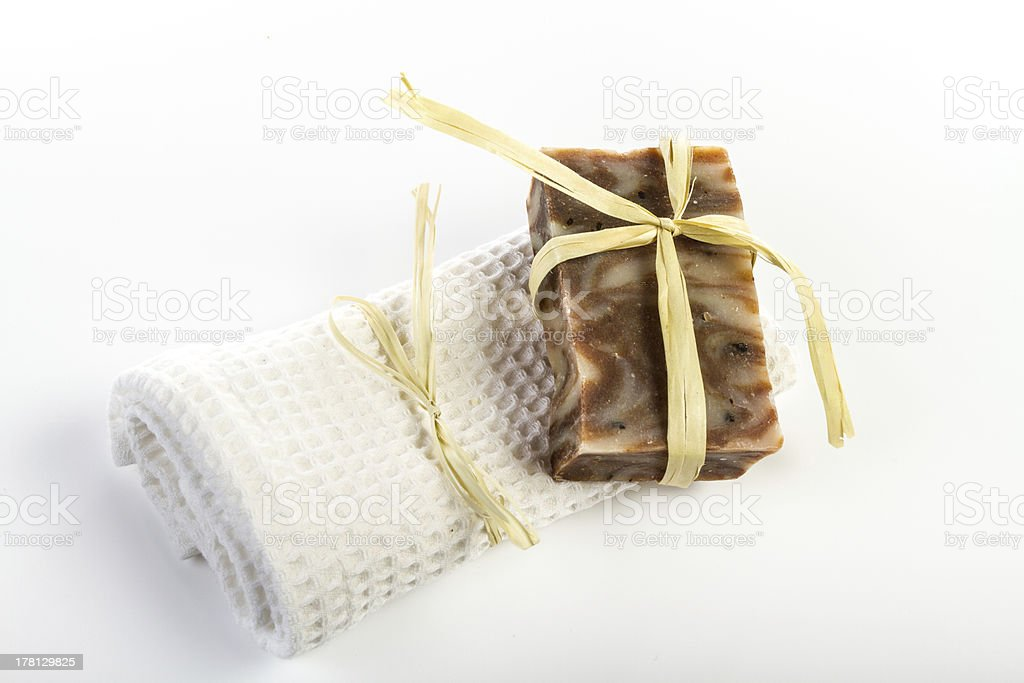 Hand made soap royalty-free stock photo