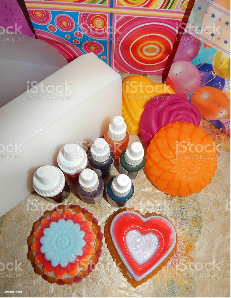 Hand Made Soap Tools For Making Soap At Home Gift Ideas Stock Photo