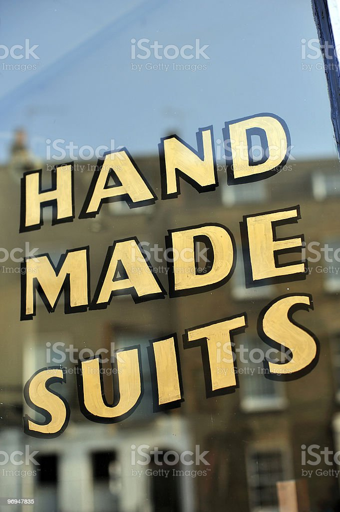 Hand Made Suits royalty-free stock photo