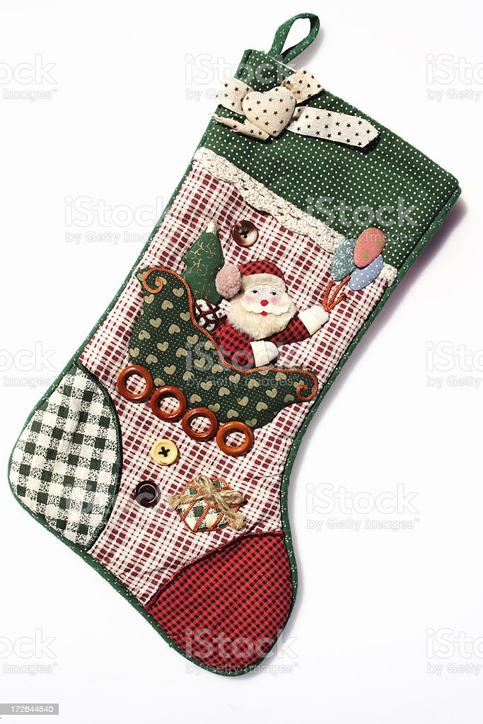 hand made traditional stocking stock photo
