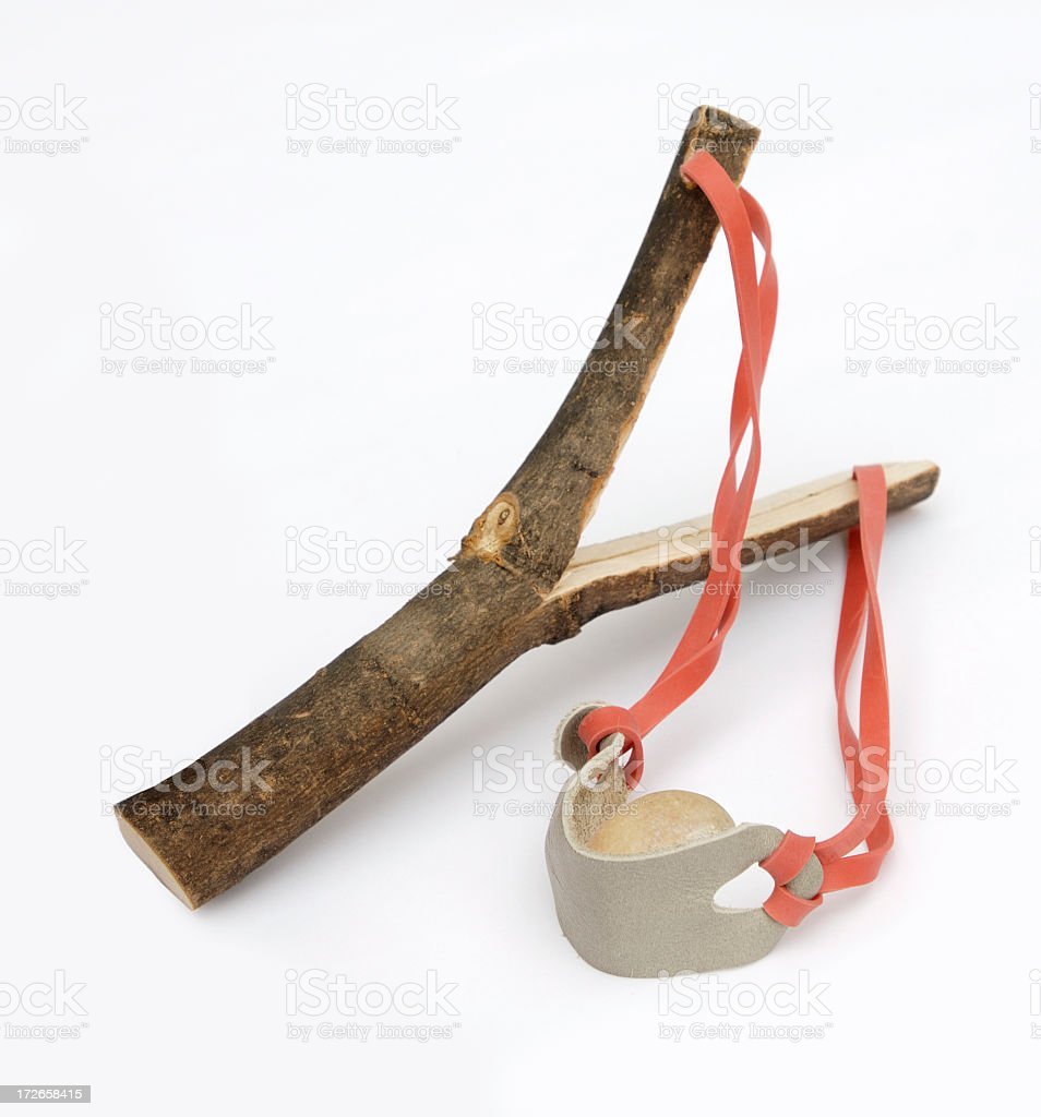A hand made wooden empty slingshot royalty-free stock photo
