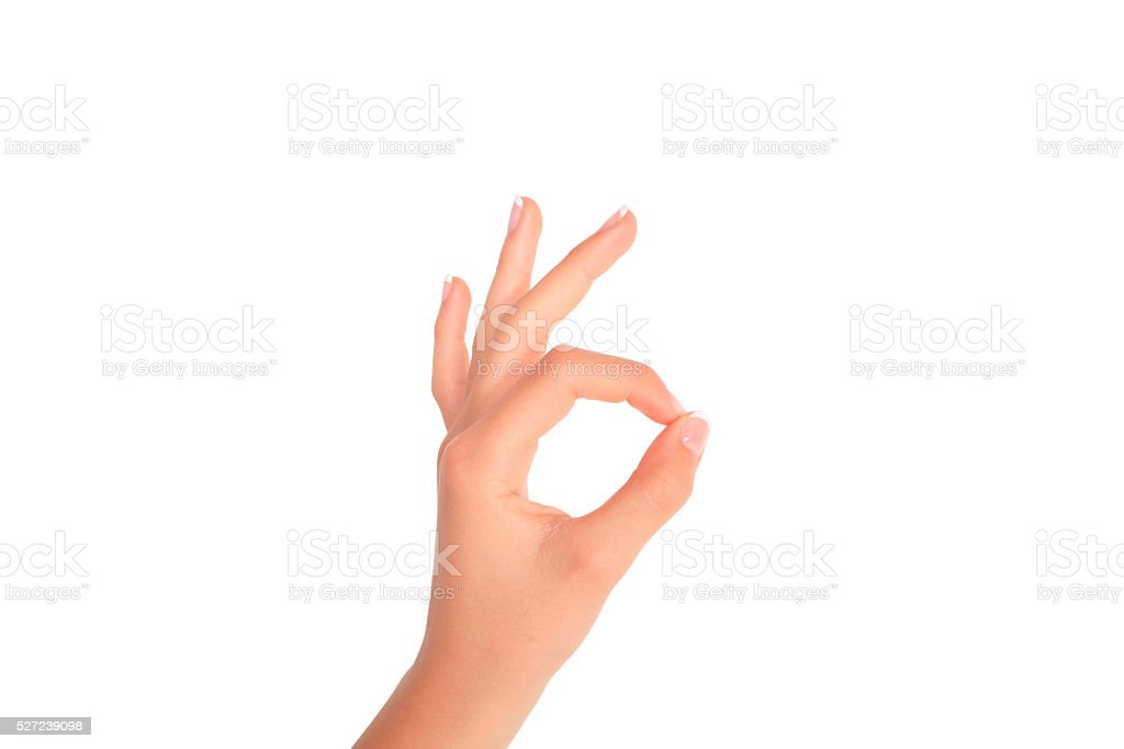 Hand Making Ok Symbol Stock Photo More Pictures Of Caucasian