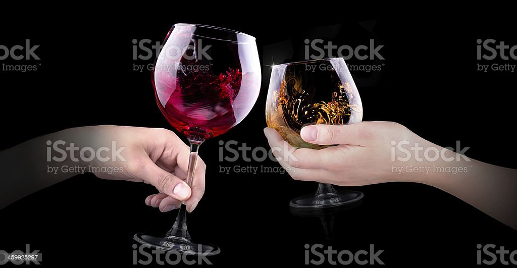 hand making toast with alcohol - Royalty-free Abstract Stock Photo