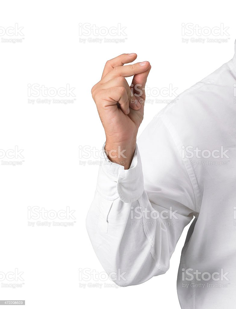 Hand man with shirt stock photo
