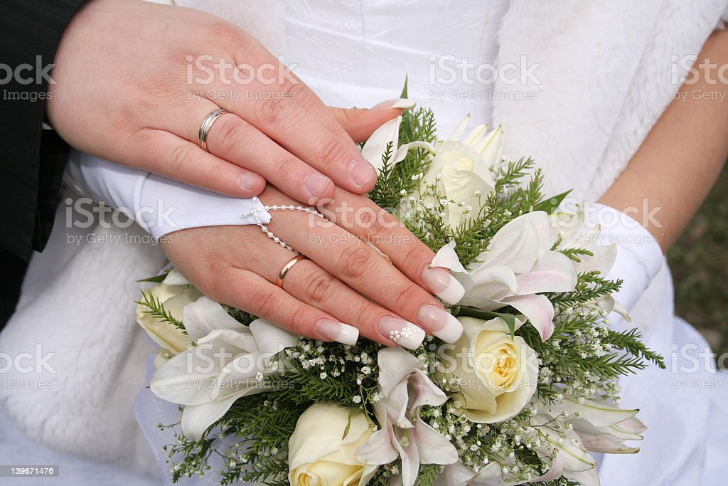 Hand married royalty-free stock photo