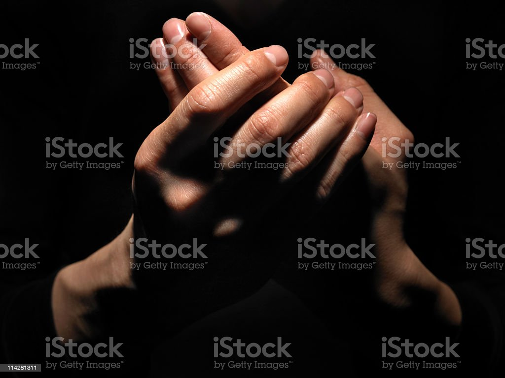 Hand Massage. stock photo