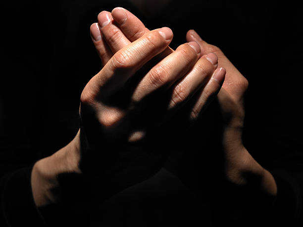 Hand Massage. stock photo