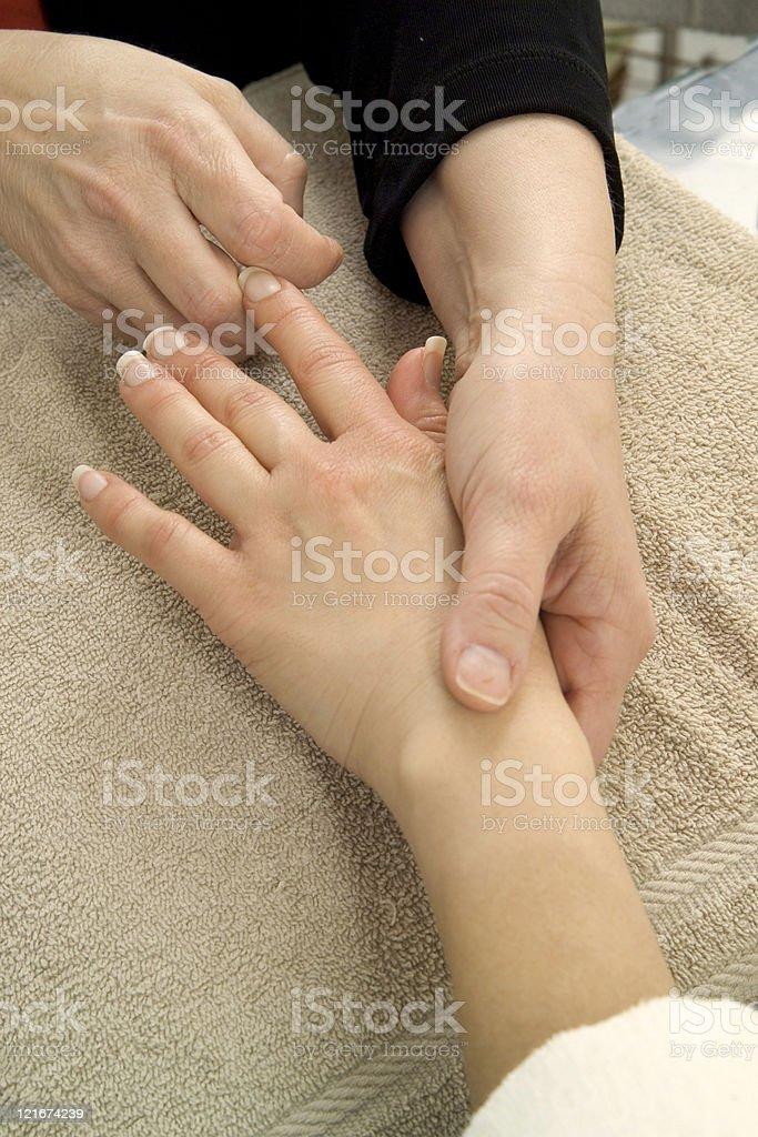 hand massage royalty-free stock photo