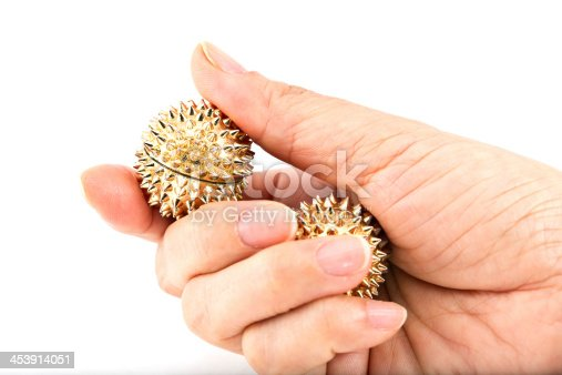 Magnetic Hand Accupunture Massager Needle Ball.