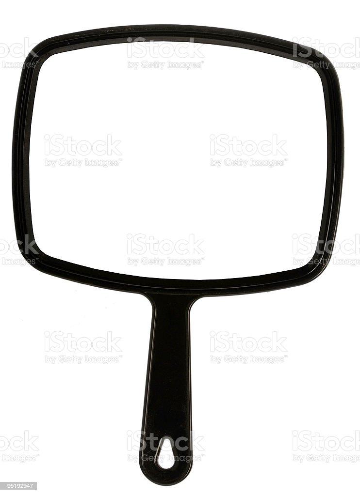 hand mirror isolated stock photo