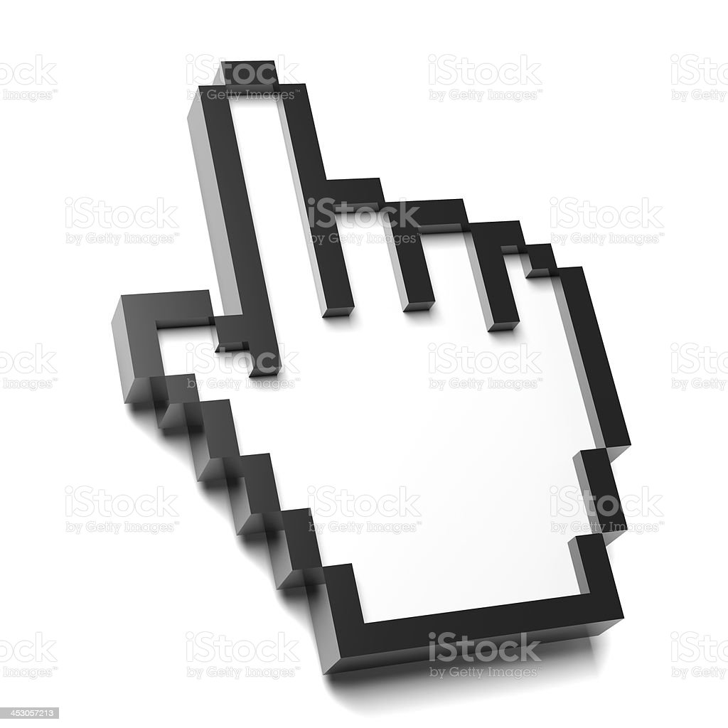 Hand Mouse Pointer stock photo