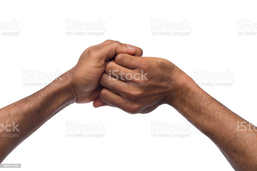 Hand Mudras Black Male Hands Making Ganesha Position