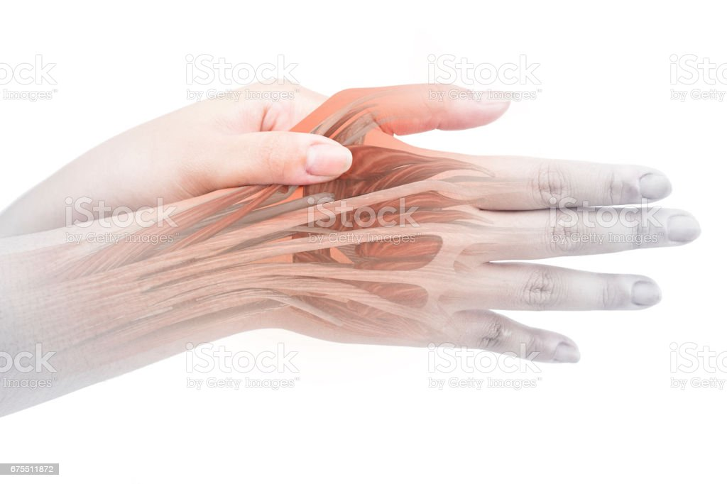 hand muscle pain photo libre de droits
