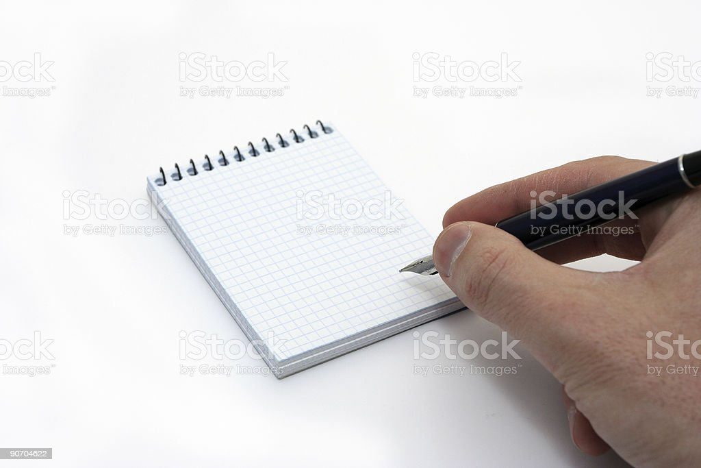 Hand notepad royalty-free stock photo