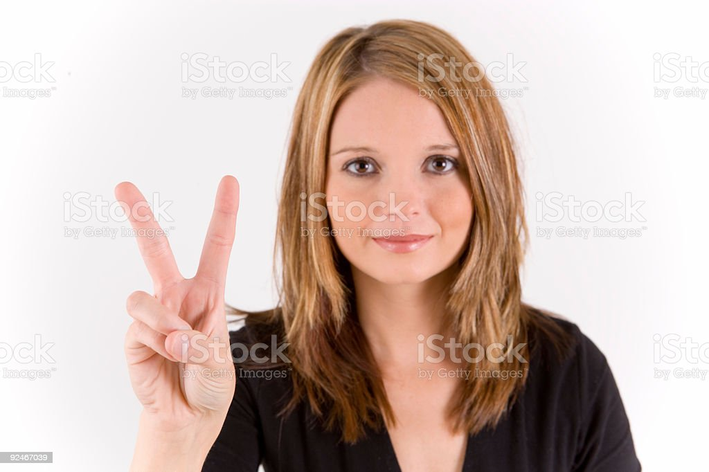 Hand Number series two fingers royalty-free stock photo