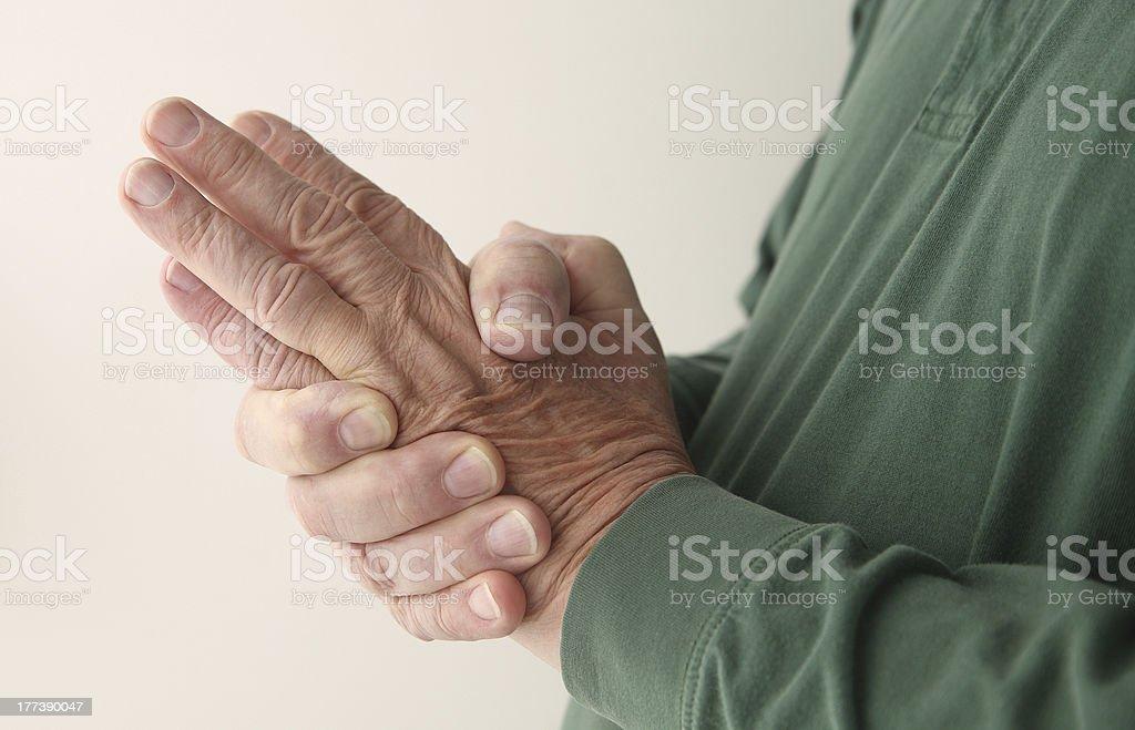 hand numbness stock photo