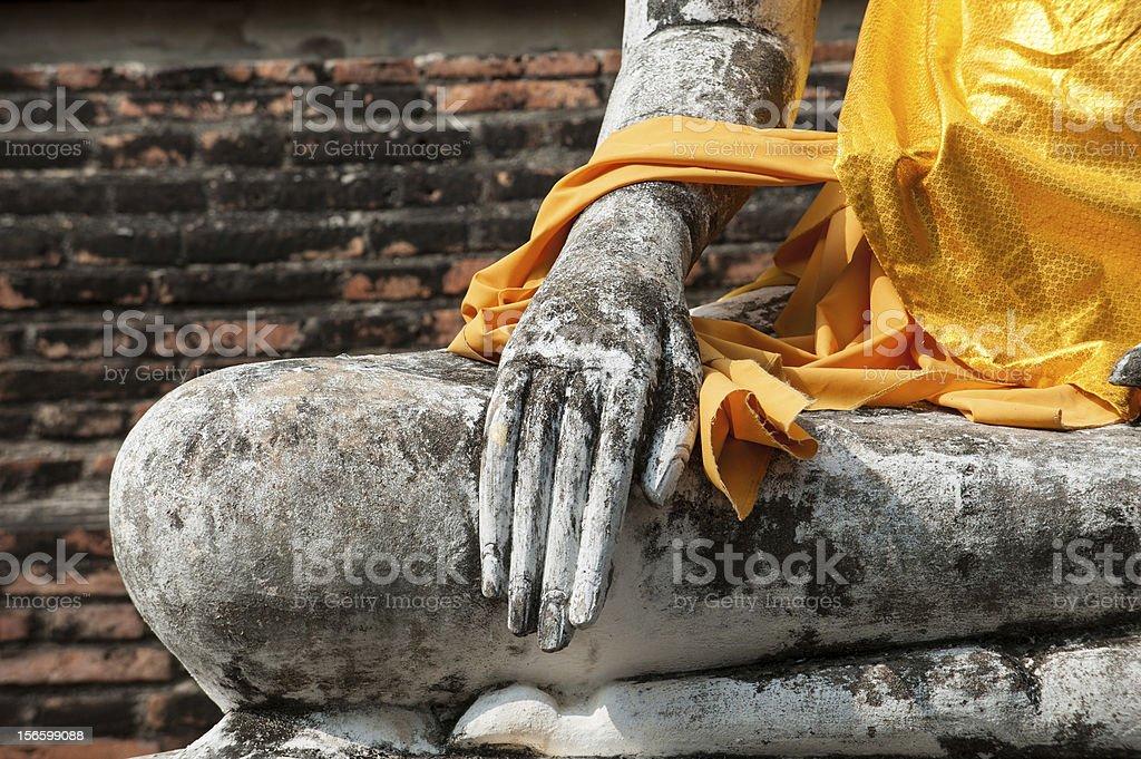 hand of buddha statue royalty-free stock photo