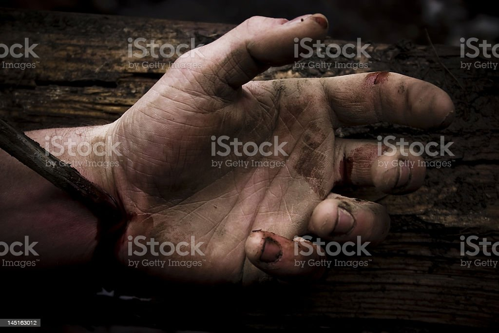Hand of Christ stock photo