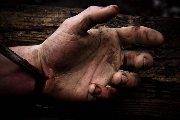 Hand of Christ stock photo