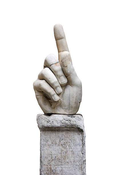 Hand of colossal statue Rome  statue stock pictures, royalty-free photos & images