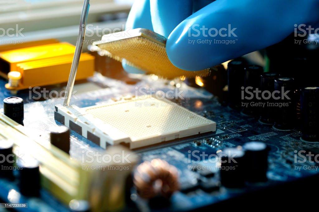Hand Of Computer Engineering Brings Computer Cpu Processor