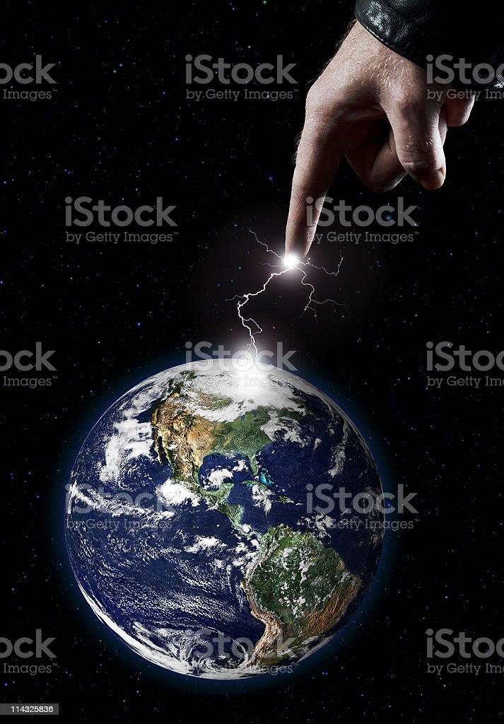 Hand of God royalty-free stock photo