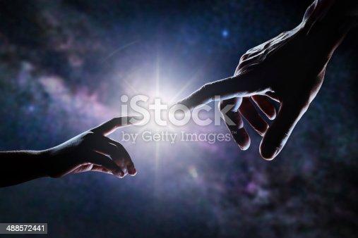 974882202 istock photo Hand Of God 488572441