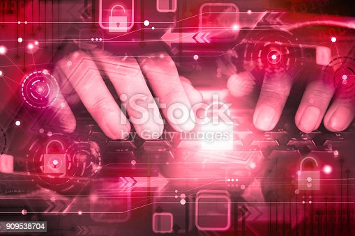 istock hand of hacker on computer keyboard with unlocked icon ,cyber attack, unsecured network ,internet security concept 909538704