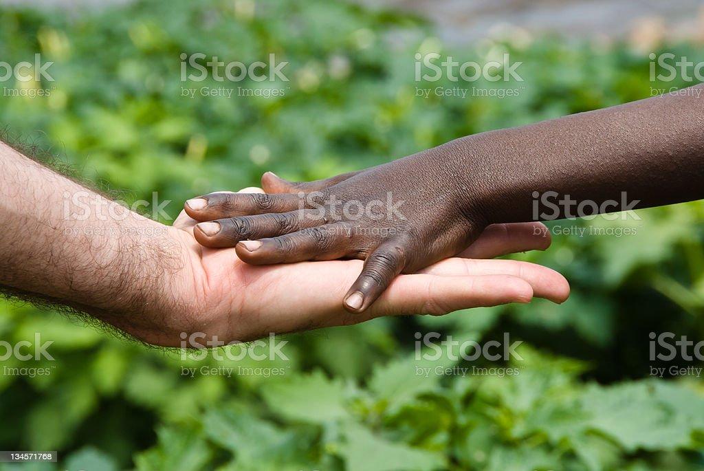 Hand of help stock photo