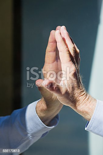 istock Hand of man and reflection 535170613