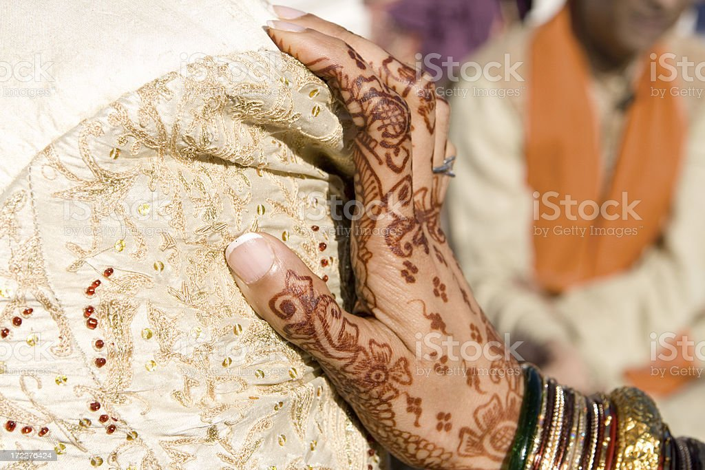 hand of marriage stock photo
