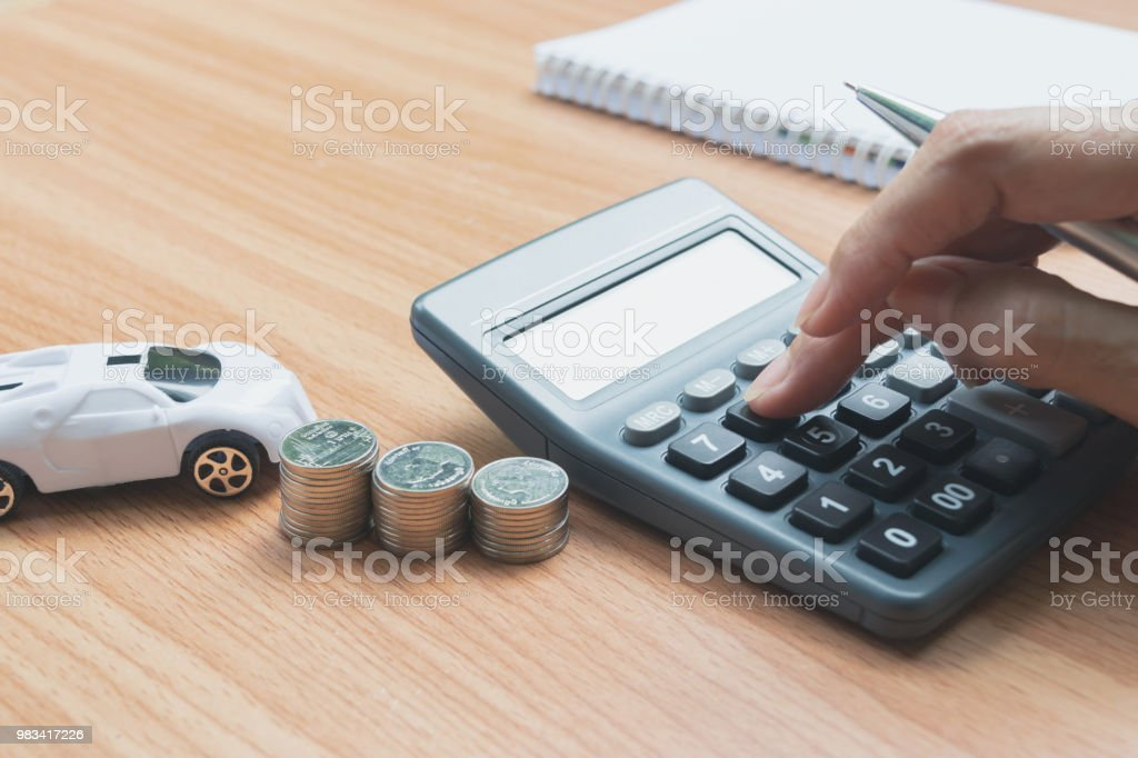 Hand Of Person Putting Calculator For Calculate About The Business