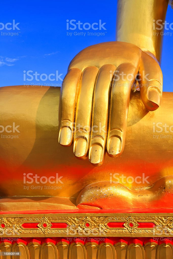 Hand of the buddha royalty-free stock photo