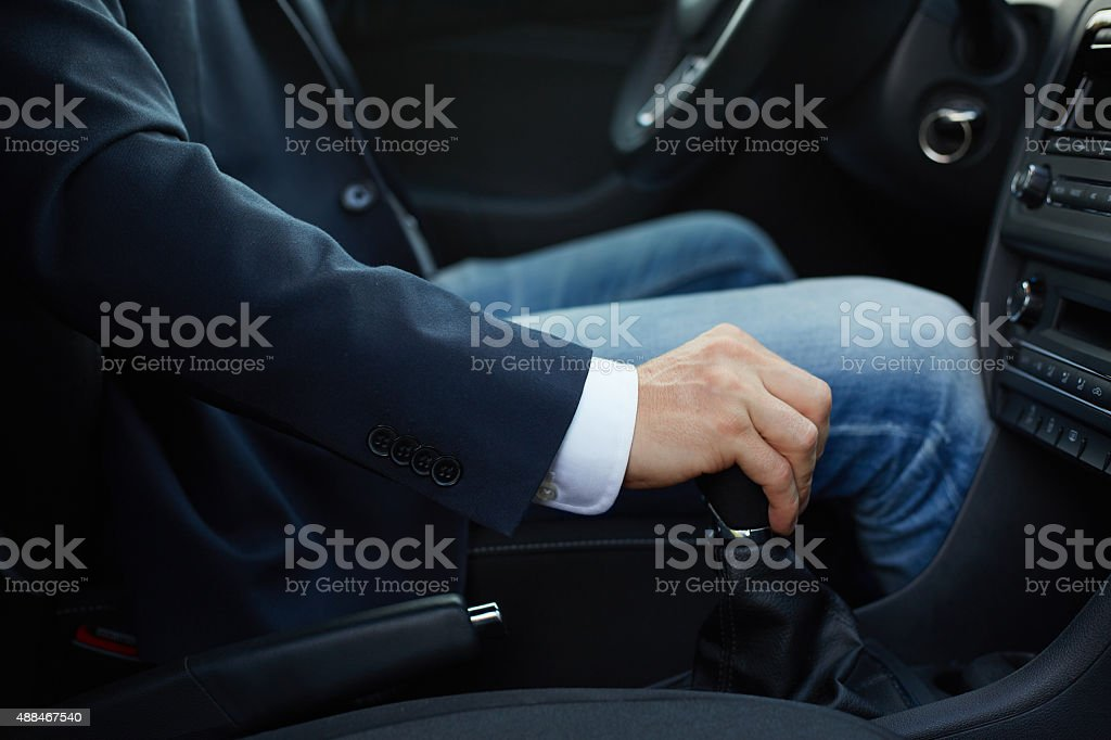 Hand of the driver stock photo
