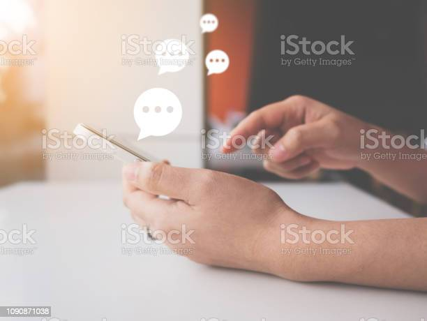 Hand of woman typing text on mobile smartphone online live chat on picture id1090871038?b=1&k=6&m=1090871038&s=612x612&h=2temt qavexs 350shhiz 79v5qc0bxv5ygppk9 c0y=