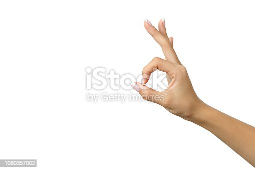 Hand OK shape