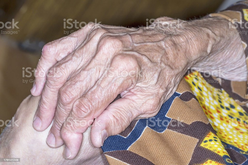 Hand old woman royalty-free stock photo