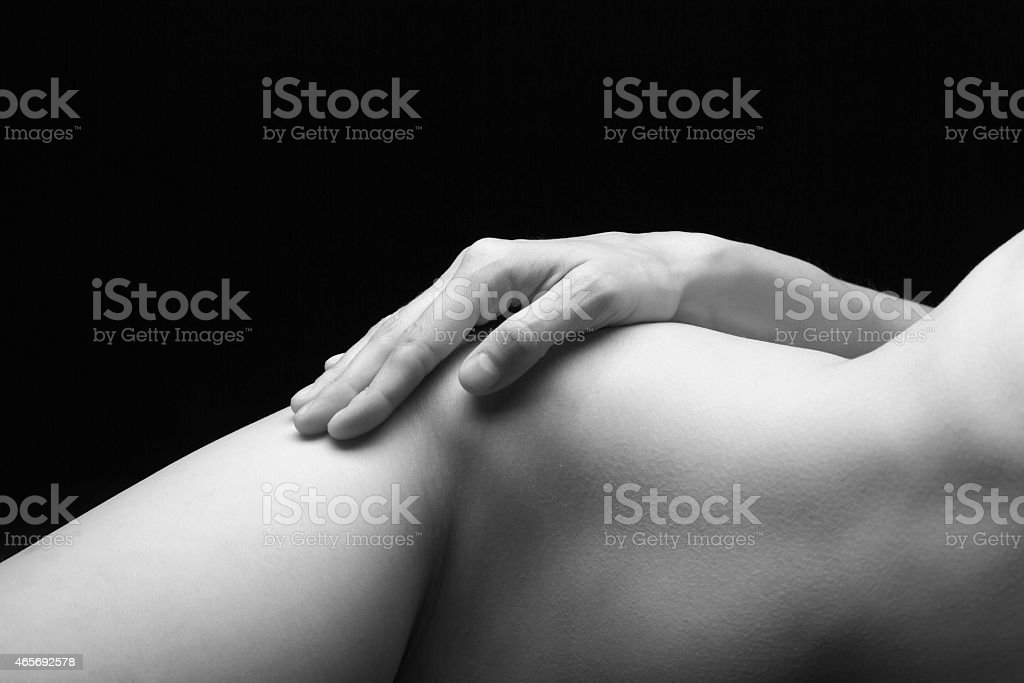Hand on a Woman's Body stock photo