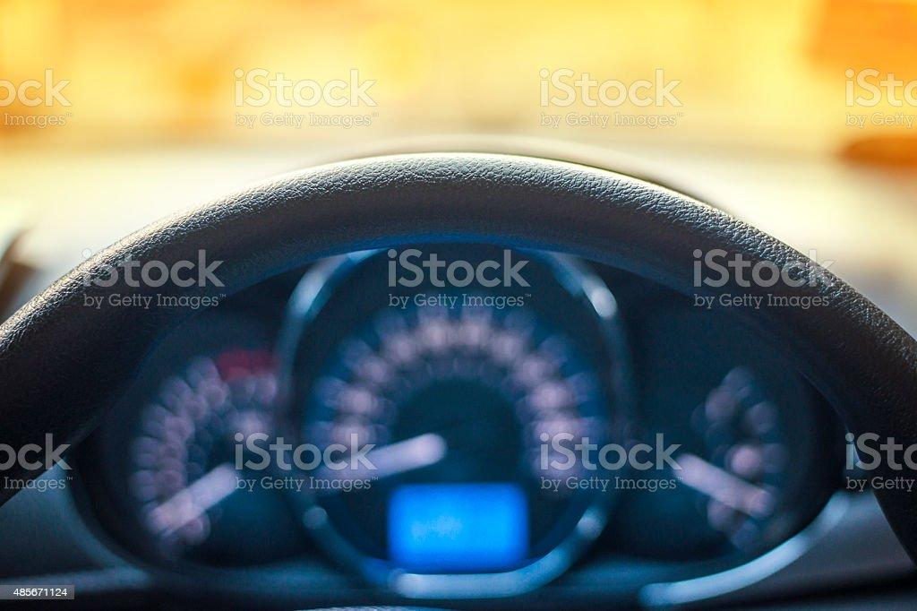 hand on auto steering stock photo