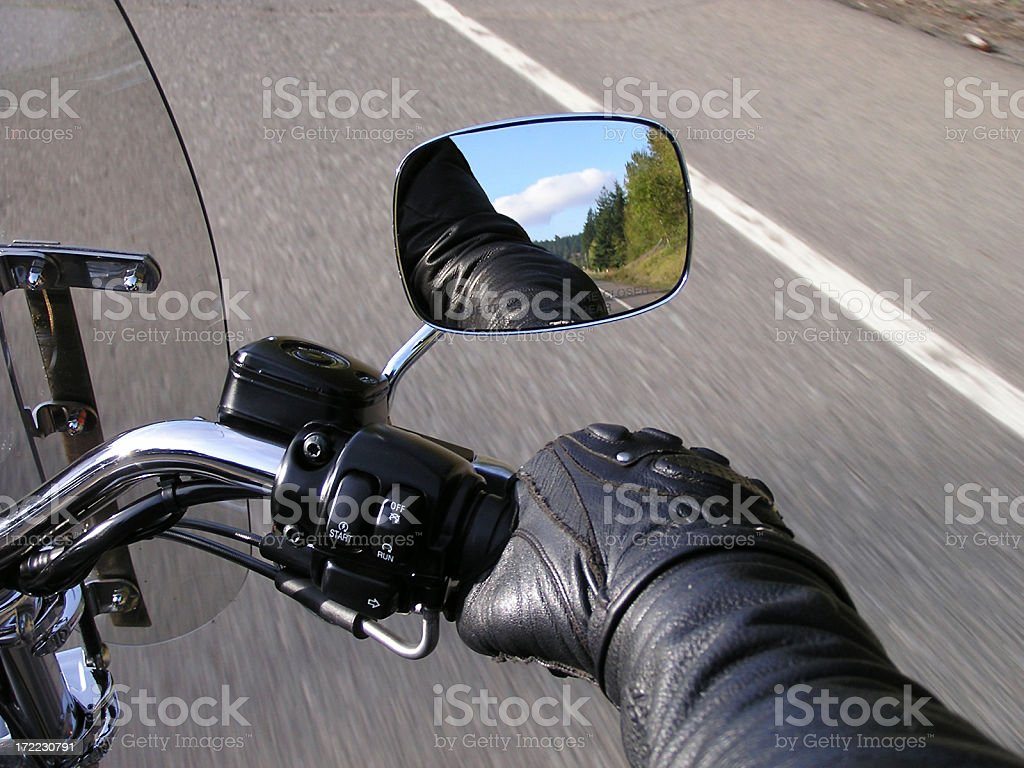 Hand on the Throttle (1) stock photo
