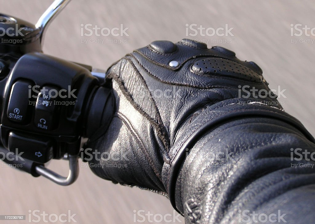 Hand on the Throttle (2) stock photo