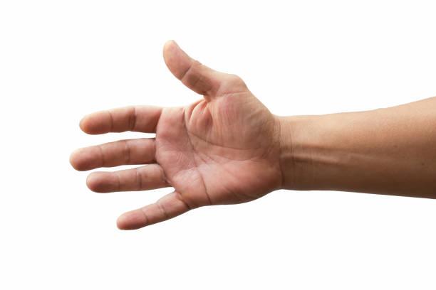 Hand auf weißem Hintergrund – Foto