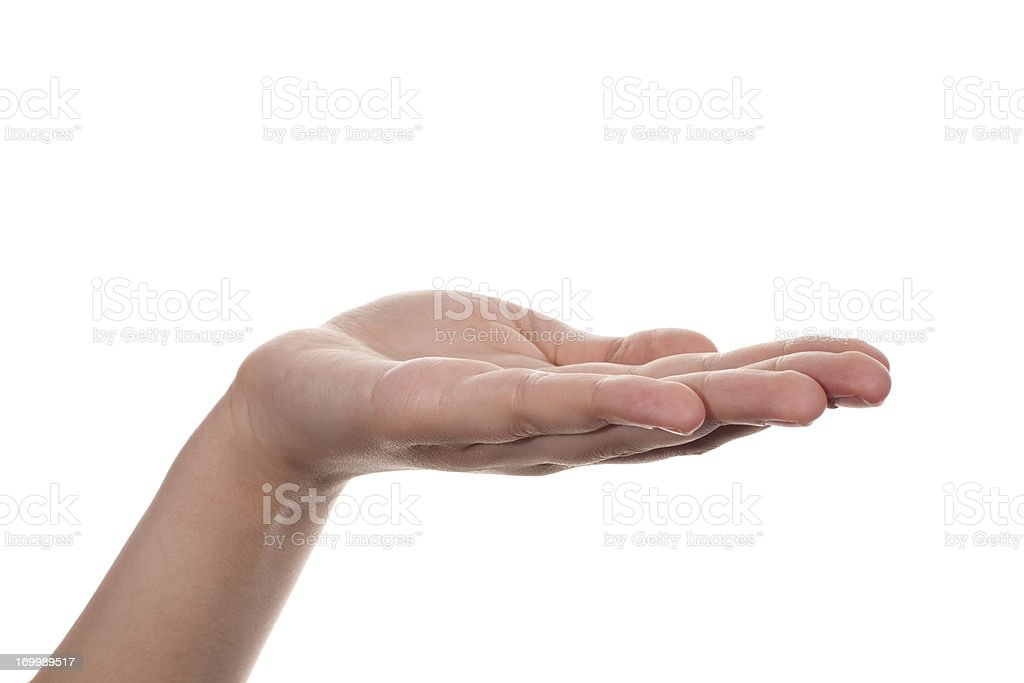 Hand, open palm stock photo