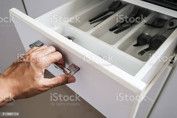 Hand opening drawer in the kitchen selective focus picture id512682124?b=1&k=6&m=512682124&s=612x612&h=2isu4j8c7gwivwkdodfldacnf98swmwjjfe0ga0ilie=