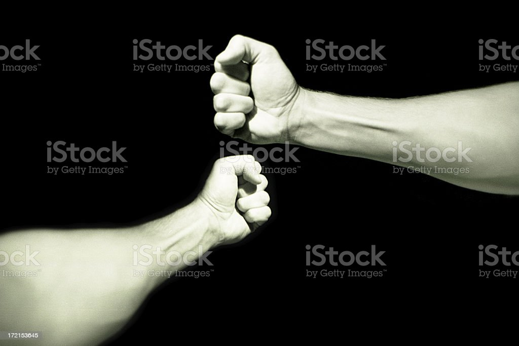 Hand Over Fist royalty-free stock photo