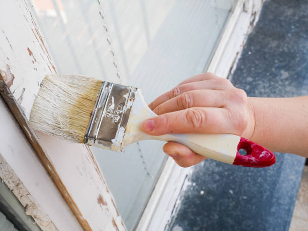 handfarbe fenster - shabby deko stock-fotos und bilder