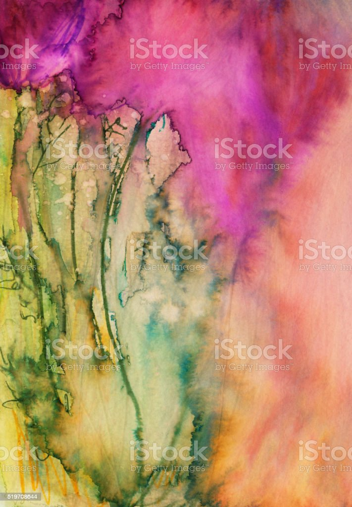 Hand painted abstract background with bright colors and texture stock photo
