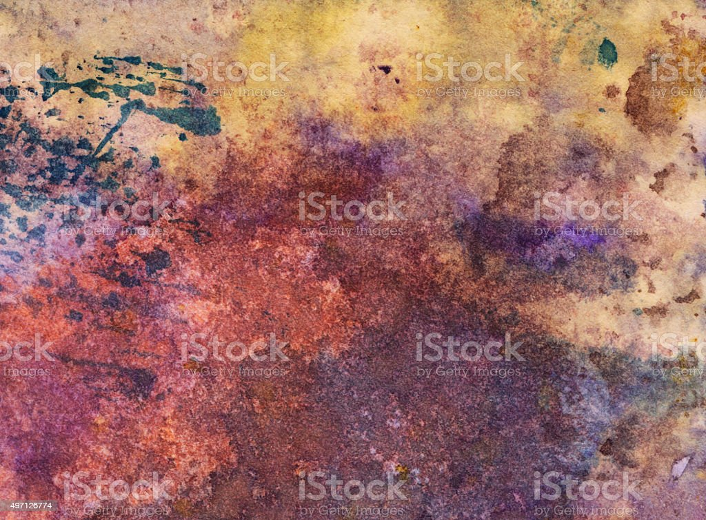 Hand painted background with earth tone colors stock photo