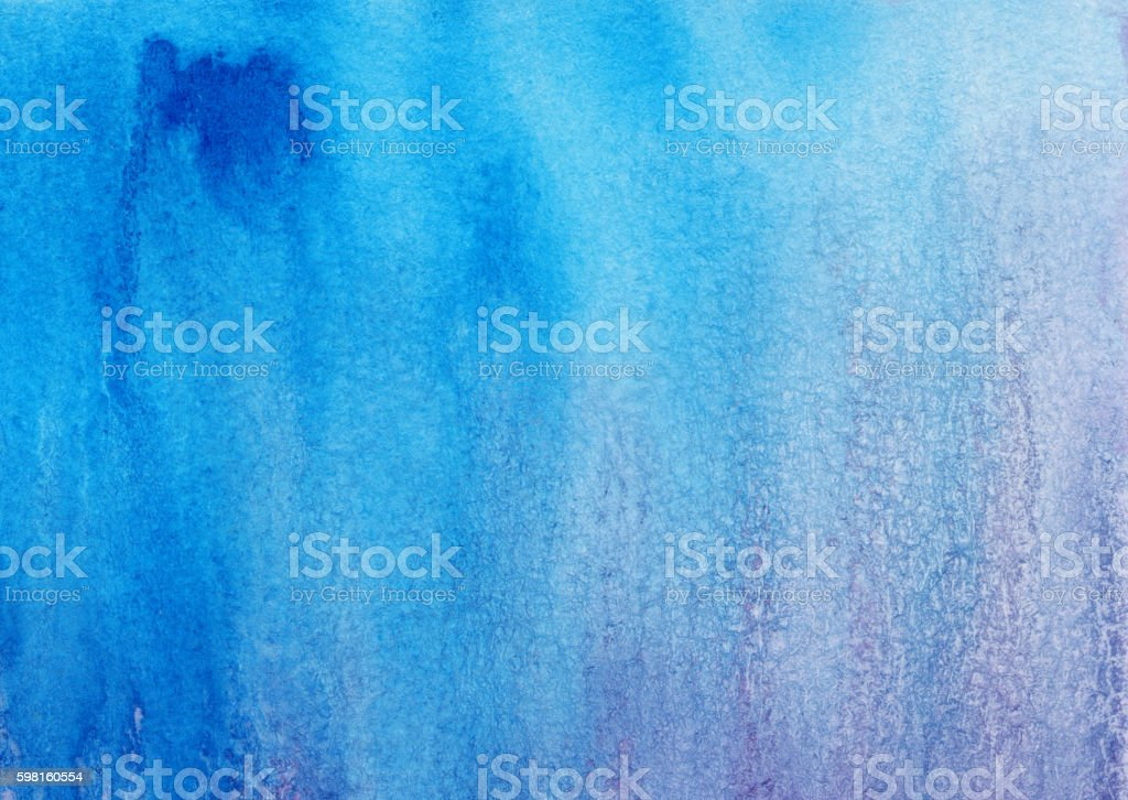 Hand painted background with shades of blue and purple stock photo